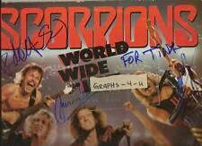 Scorpions Autograph Group Signed World Wide Live Album