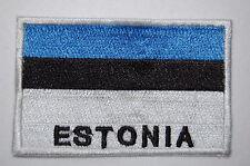 Ecusson brodé patch thermocollant Drapeau ESTONIE - ESTONIA