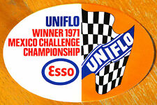 TEAM ESSO UNIFLO vincitore 1971 Messico SFIDA RALLY / RACE Motorsport Adesivo