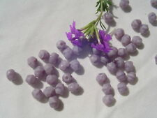 Fire Polish Glass Bead WR28-5mm Satin Lavender 50pc