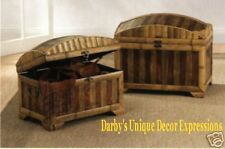 Trunks Bamboo and Wood Trunks 2 Pcs.Bulging Design New!