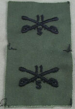 US Army Subdued Cloth Branch Insignia 11th Cavalry Support / Pair