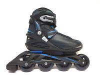Roces Stripes black blue Fitness Inline Skates Gr. 42 -Sale- Inliner Abec 5 80mm