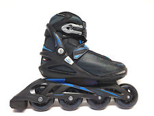 Roces Stripes black blue Fitness Inline Skates Gr. 42 -Sale- Inliner Abec 5 80mm