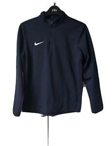 Nike  1/4 Zip Top Navy Blue Dri Fit  Size L (junior)