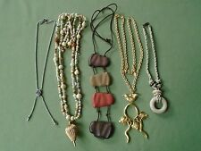 "Lot 5 Pendant Necklaces THE LIMITED 16-40"" Slider Dove Bees Bird Chili Good Luck"