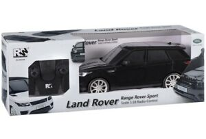 BLACK RC RANGE ROVER SPORT CRUISE AROUND IN STYLE WITH REMOTE CONTROL TOY CAR