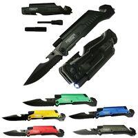 EDC Spring Assisted LED Multifunction Folding Pocket Knife Survival MULTI TOOL