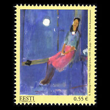"""Estonia 2015 - Paintings """"Auschwitz Concentration Camp"""" - Sc 798 MNH"""