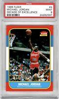 1996 Fleer #4 Decade of Excellence Micheal Jordan Rookie RC 1986 MINT PSA 9 🔥