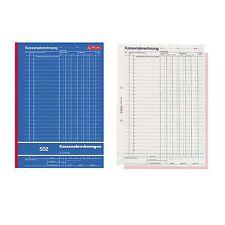 Kassenabrechnung Kassenbuch Kassenbericht A4 2x50 Blatt Herlitz 502