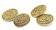 UNUSUAL Vtg CHINESE EXPORT Gold Filled Cufflinks SIGNED w CHINESE HALLMARK
