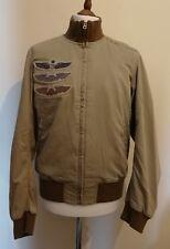 Ralph Lauren Denim & Supply Military Twill Bomber Jacket Size L