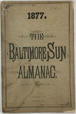 Baltimore Sun Maryland Almanac 1877