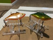 New listing 2 Discontinued Rattlin' Rapala Rnr-5 Ocw & Green Shad Orange Belly Rare Colors