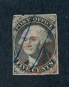drbobstamps US Scott #9X1 Used w/Defect on Top of Stamp w/PF Cert