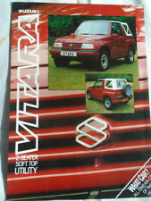Suzuki Vitara 2 Seater Soft Top Utility brochure Jul 1989