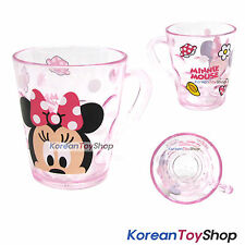 Micky Mouse MINNIE Character Clear Plastic Cup with Handle 7.8oz Made in Korea