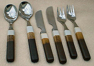 DENBY CUTLERY  AGATE TOUCHSTONE INDIVIDUAL ITEMS