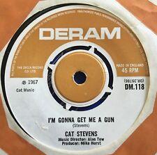 """Cat Stevens - I'm Gonna Get Me A Gun UK 1967 7"""" Deram Recs"""