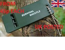 EMERGENCY RESCUE 3 TONE WHISTLE 100 DB ARMY SOLAS MARINE LIFEBOAT SURVIVAL PLCE