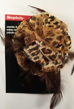 Simplicity Create Yourself Brown Leopard Feather & Lace Headband Hair Accent