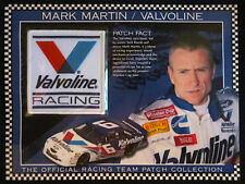 MARK MARTIN / VALVOLINE ~ Willabee & Ward ~ NASCAR RACING TEAM PATCH + Info Card