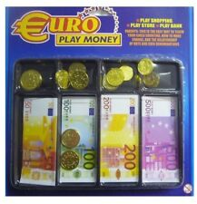 Euro Money Play Set Assorted Notes & Coins Kids Toy Play Games 64 Piece Set
