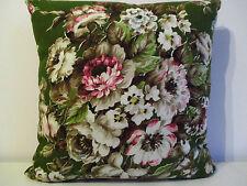 VINTAGE con CITTADELLA HIGH PEAK Fabric & Rosa broccato metà del secolo Copricuscino
