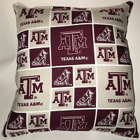 Texas ATM NCAA Football Pillow Handmade In USA Texas Pillow ATM