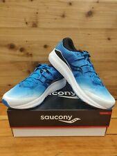 Saucony Men's Ride Iso Size: 8.5 Color: Wht/Blk/Blue Style#S2044-1