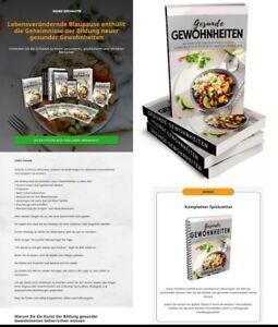Gesunde Gewohnheiten - eBook, Verkaufsseite, Banner,  PLR Lizenz Komplettpaket
