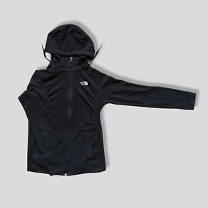 THE NORTH FACE HOODIE FULL ZIP BLACK XS WOMENS 8/10 SLIM FIT VERY GOOD CONDITION