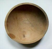 "Early Antique Munising Bowl 11.5"" Natural Wooden Farmhouse Dough Fruit Bowl"