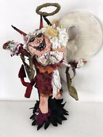 Outside Art Paper Mache Halloween Devil Angel Sculpture Figure Good Bad Girl