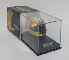 MINICHAMPS VALENTINO ROSSI AGV CASCO HELMET 1/8 WORLD CHAMPION GP 125 1997 RARE