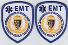Massachusetts EMT 2 mini hat patches Emergency Medical Technician Blue MA Mass