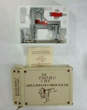 Pampered Chef Apple Peeler Mechanical Hand Crank Table Mounted