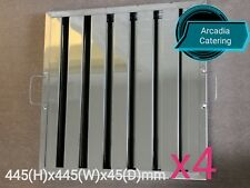 4xLOBO Heavy Duty Stainless Steel Canopy Extraction Grease Baffle Filter 445x445