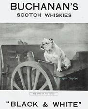WWI Buchanan's British English Bulldog Black & White Whisky 1916 Advertisement