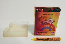Vintage 1984 Rainbow Brite Crayons 16 Colors Non Toxic Golden Hallmark Usa Made