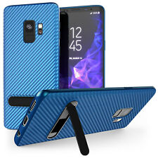 Premium Carbon Fibre Stand Case For Samsung Galaxy S9 & S9 Plus Protective Cover