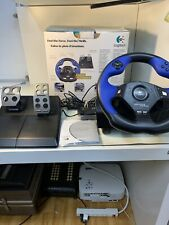 Logitech Driving Force Racing Steering Wheel For PS2 PlayStation 2 Tested