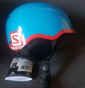 Salomon GROM Helmet L37773600 RARE Blue/Red Size KS (49-53cm) NEW w/ box & tags
