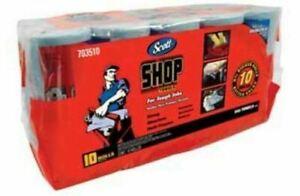 Scott Shop Towels Car Motorbike Automotive Garage Cloths 55 Count x Qty 10 Rolls