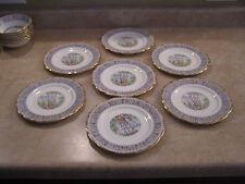 Royal Albert Silver Birch Dessert / Pie Plates 7 1/4 inch - RARE