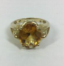Ladies Solid Gold Citrien Ring (J104)