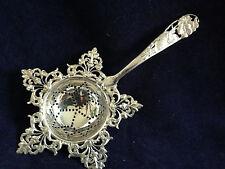 Shiebler Pierced Flora pattern Tea Strainer