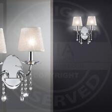 MIA A230N classico lampada parete con paralume in tessuto bianco decorazione e