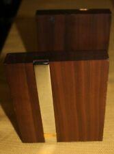 General Electric pair GE LOGO teak bookends JOSTENS desk accessory MID CENTURY